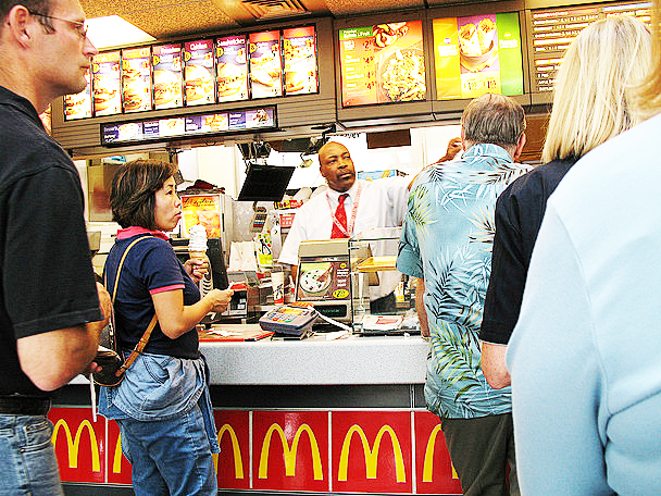 problem in service of mcdonald A london branch of mcdonald's is getting a fancy makeover next week, with velvet curtains, a string quartet and vip table service the branch in kensington (where.